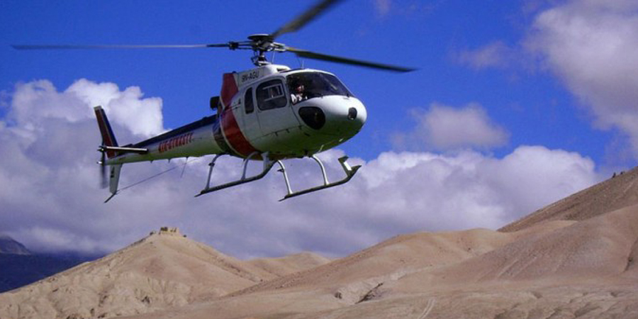 Mustang Helicopter tour
